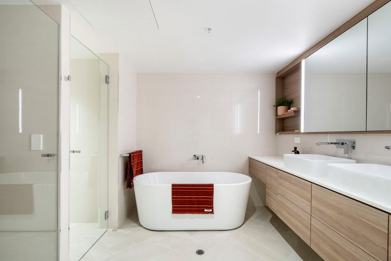 Clean stylish bathrooms at the towers at elizabeth quay