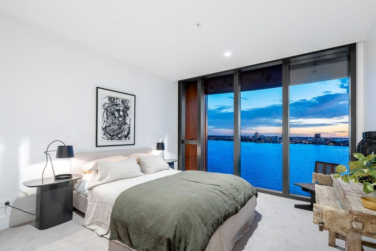 Bedroom view from the towers at elizabeth quay