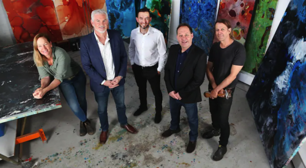 5 artists looking at the camera from The West Australian article
