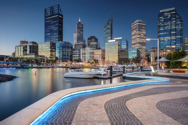 view of the promenade near elizabeth quay apartments the towers perth