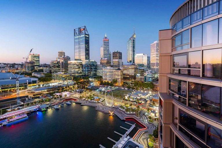 view from an elizabeth quay apartments the towers perth